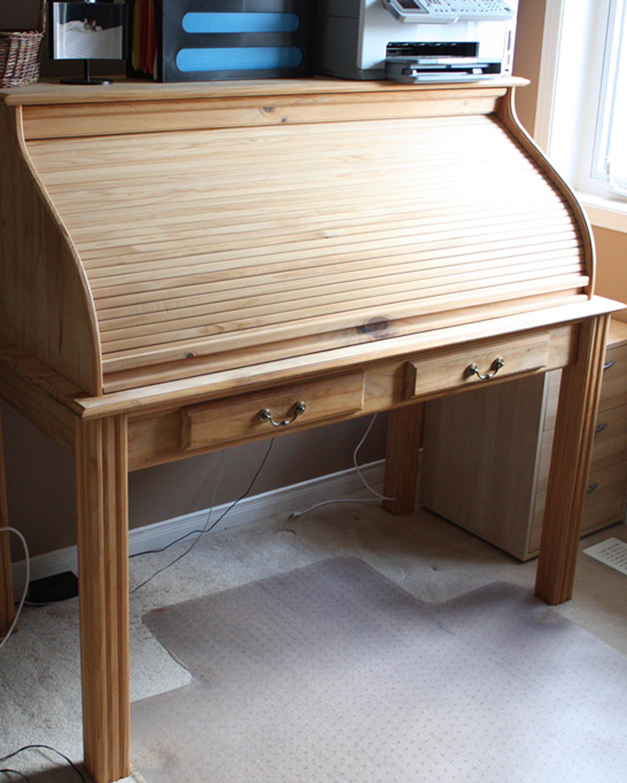 Diy Workbench Upgrades: Download Roll Top Desk Parts Plans DIY New Yankee Workshop